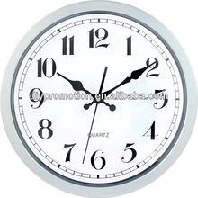 Wholesale diy solid wood quartz day date time clock sweep clock