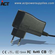 CE approved UL listed 12v 12w eu plug power adapter