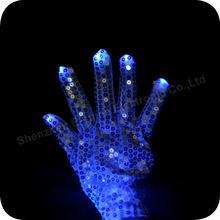 China Factory Wholesale Led Light Blue Gloves