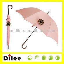 pretty pink flower rain high quality stright umbrella