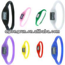 Fashion silicone watch ion