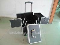 RZ-TTB24,Black Double Open Professional Beauty Case Trolley,Beauty Cases On Wheels From Manufacturer