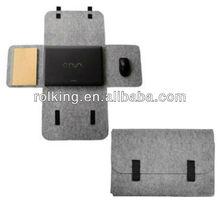 gray felt cheap laptop sleeve