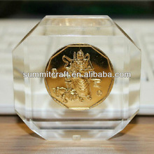 Custom acrylic coin paperweight