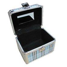 Blue Mini Aluminum Professional Makeup Case From Factory RZ-TWB4
