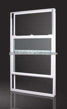 Aluminium laminated glass hung window