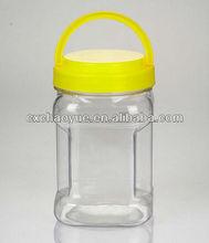 1 kg Transparent dog food pet bottle with handle screw lid