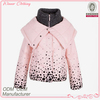 contrast color knitted collar dot print south korea clothing with cape
