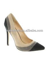 vera pelle stiletto scarpe pompa donne