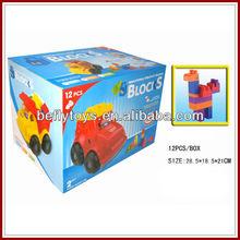 Plastic building block truck