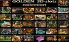 golden 3D-slots collection for online casinos, totems and kiosk casino