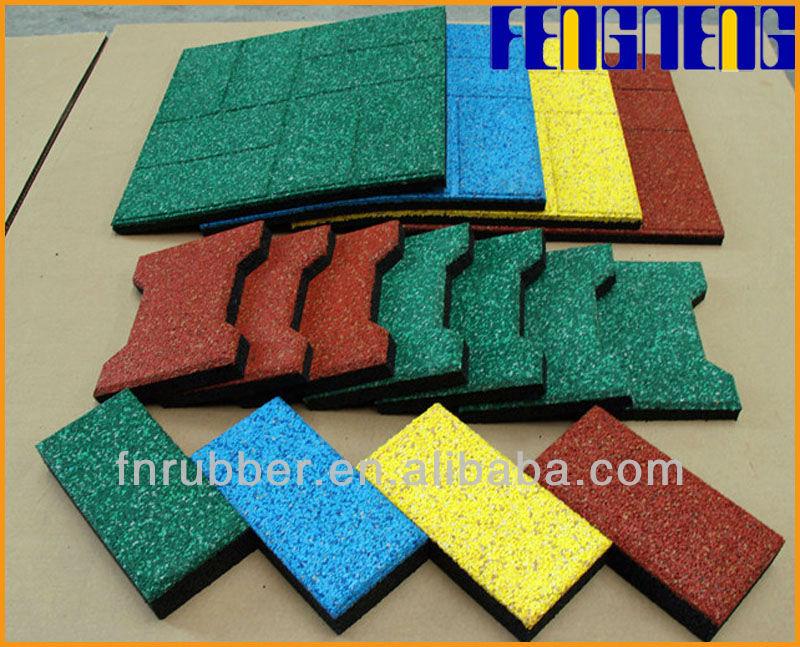 EN1177 rubber tiles