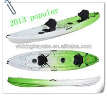 Fishing sit on top professional sea kayak with 2 rod holder 2+1 seat kayak three person kayak for fishing
