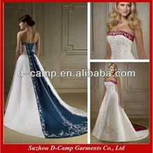 ... beliebt navy blau und weißen brautkleid zweifarbig hochzeitskleid