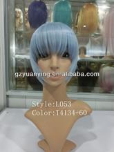 2013 most popular light blue short cosplay wig