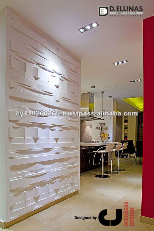 Panneau de mur 3d d coratif int rieur ext rieur d 39 embosed - Mur decoratif en mdf ...