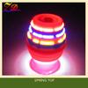 spring super spinning led top light toy