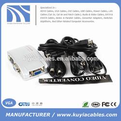Computer to TV Converter Box - VGA to RCA S-video Composite Adapter