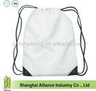 Blank Plain White Color Promotion Drawstring Backpack