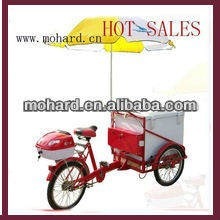 Custom adult front loading cargo tricycle for ice creame MH-064