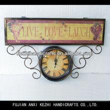 antique metal mantel clock