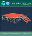 de alta calidad de muebles de aluminio plegable armadura de madera portátil truss etapa de diseño