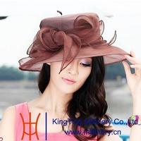 2015 fashion beautiful organza church hats