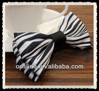 handmade modern black and white stripe fabric bow,hair accessory,hat accessory