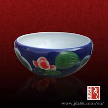 blue glazed mini fish tank louts design