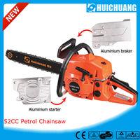 wood cutting machine Gasoline chain saw 52cc with good price