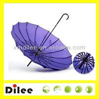 straight romantic cute solar Novelty gift pagoda umbrella