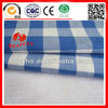 100% cotton blue white check fabric for shirting