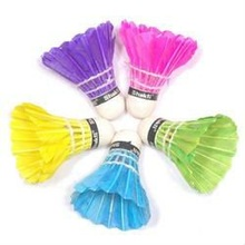 Badminton Feather Shuttlecocks in Different Colours