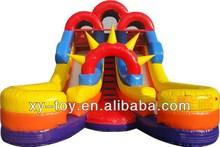 NEW 16ft Commercial Inflatable Double Lane Sun Splash Water Slide Wet Dry Combo