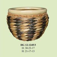 planter pots / ceramic weaving planters (HG 12-1245/3)