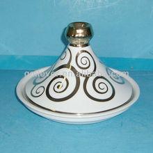 Morocco ceramic tajin pot with golden platingGK10732DG-8