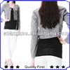fashion round neck short style new design women jacket 2013
