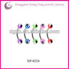 colored acrylic balls fashion eyebrow piercing