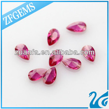 Hydrothermal stones pear whole sale glass beads bracelet vners
