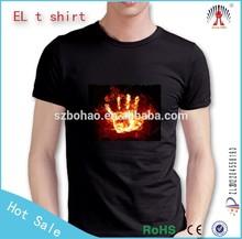 2015 New LED Light Up t shirts,Sound Activated EL T-shirts,Custom Design EL T-shirts