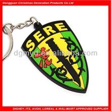 sere shield soft pvc soccer ball keychain
