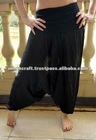 Wholesale Black Aladin harem pants,Rayon Trouser Cotton Harem Pant Hindu Ropa Wholesale sarouel Vetement India Pantalon Baggy