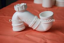 Foshan Swin Factory direct PVC S trap with cleanout/PVC trap/PVC pipe trap