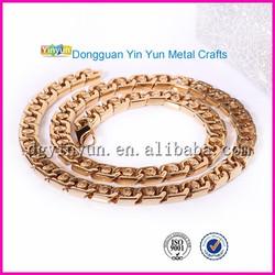 Wholesale new gold chain design for men charm plain necklace