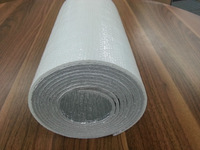 aluminium foil roof insulation one side is white woven reinforce one side is foil facing for reflect heating