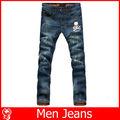 2015 nuevo estilo de pantalones vaqueros reprimida para los hombres