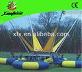 Inflables bungee trampolín ronda de trampolín, trampolín del agua, diámetro 3 m