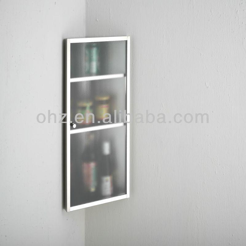 Stainless Steel Kitchen Storage Cabinets Stainless Steel Bathroom Kitchen Storage Corner Cabinet Cupboard 3