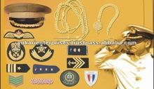 Uniforms Trimminge Embroidred Hand Machine Bullion Silk Badges Galons Accessories Dragonnes Jugulaires Aigullettes Rank Insignia