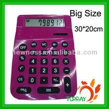 2013 Newest Big Size 30*20cm Silicon Calculator